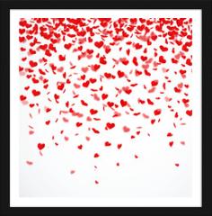 Obraz w ramie - Herzkonfettiregen