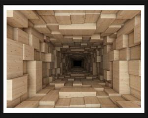 Obraz w ramie - tunnel