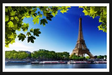 Obraz w ramie - Sekwana i Wieża Eiffla w Paryżu