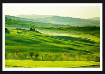 Obraz w ramie - San Quirico´Orcia, Toskania, Włochy