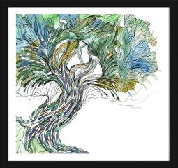 Obraz w ramie - Stare drzewo