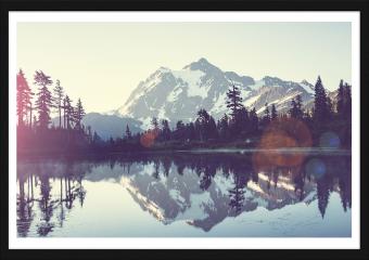 Obraz w ramie - Obraz z jeziorem