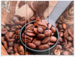 Panel szklany do szafy przesuwnej - coffee