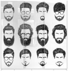 Panel szklany do szafy przesuwnej - bearded man hairstyles