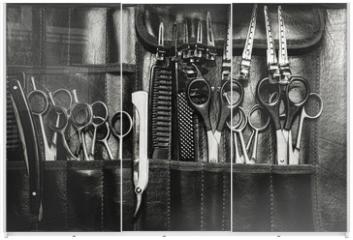 Panel szklany do szafy przesuwnej - A set of cutting tools for cutting barber beard salon