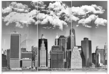 Panel szklany do szafy przesuwnej - Manhattan skyline