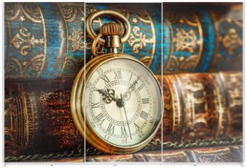 Panel szklany do szafy przesuwnej - Old Books and Vintage pocket watch