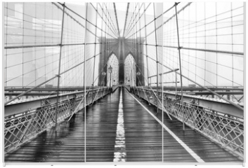 Panel szklany do szafy przesuwnej - The Bridge of Yore