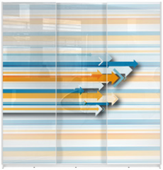 Panel szklany do szafy przesuwnej - flèche collection,fond