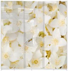 Panel szklany do szafy przesuwnej - Jasmine flower