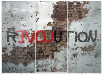 Panel szklany do szafy przesuwnej - Révolution, graffiti