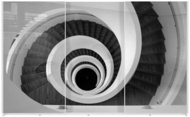 Panel szklany do szafy przesuwnej - Modern spiral stairs detail
