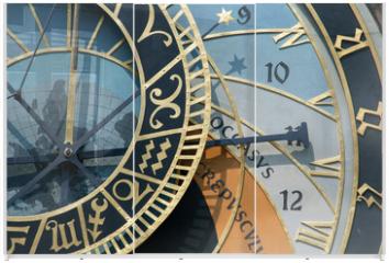 Panel szklany do szafy przesuwnej - prague astronomical clock