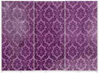 Panel szklany do szafy przesuwnej - Vintage damask wallpaper