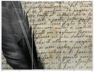 Panel szklany do szafy przesuwnej - Manoscritto 1