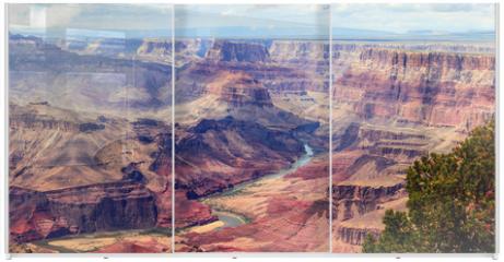 Panel szklany do szafy przesuwnej - Panorama image of Colorado river through Grand Canyon