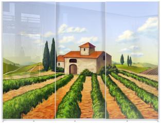 Panel szklany do szafy przesuwnej - Italian vineyard