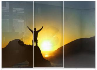 Panel szklany do szafy przesuwnej - happiness & freedom