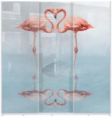 Panel szklany do szafy przesuwnej - making love