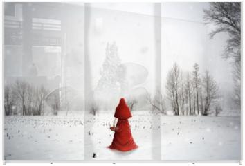 Panel szklany do szafy przesuwnej - The ice land
