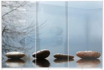 Panel szklany do szafy przesuwnej - Steine
