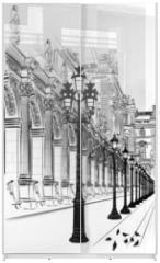 Panel szklany do szafy przesuwnej - Paris: Classical architecture