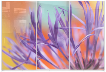 Panel szklany do szafy przesuwnej - colourful lowers