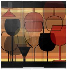 Panel szklany do szafy przesuwnej - wein