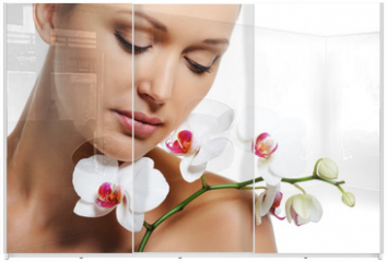 Panel szklany do szafy przesuwnej - Skin treatment for beauty adult woman