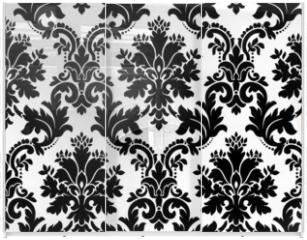 Panel szklany do szafy przesuwnej - Vector. Seamless damask pattern