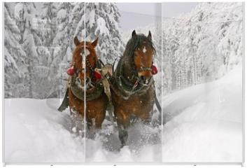 Panel szklany do szafy przesuwnej - sleigh ride
