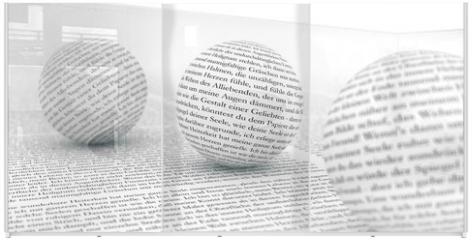 Panel szklany do szafy przesuwnej - Text im Focus