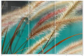 Panel szklany do szafy przesuwnej - fuzzy fountain grass