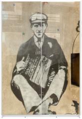 Panel szklany do szafy przesuwnej - accordéoniste