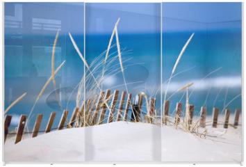 Panel szklany do szafy przesuwnej - lake sand dunes