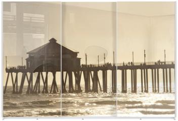 Panel szklany do szafy przesuwnej - huntigton beach pier 2 of 4
