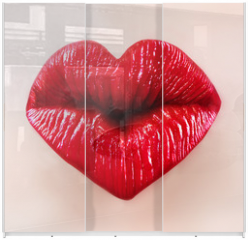 Panel szklany do szafy przesuwnej - saint valentine lips