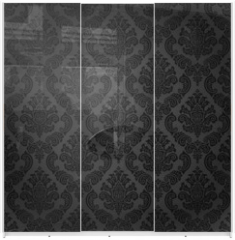 Panel szklany do szafy przesuwnej - Seamless damask wallpaper