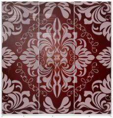 Panel szklany do szafy przesuwnej - Abstract seamless floral pattern