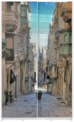 Panel szklany do szafy przesuwnej - long view of maltese street