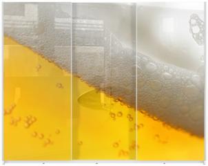 Panel szklany do szafy przesuwnej - beer with froth