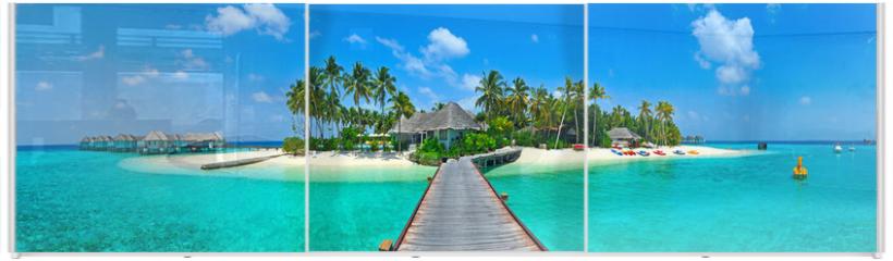 Panel szklany do szafy przesuwnej - Maldives island Panorama