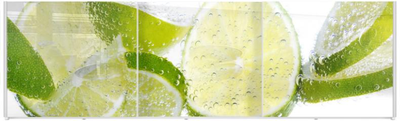 Panel szklany do szafy przesuwnej - Limette & Zitrone