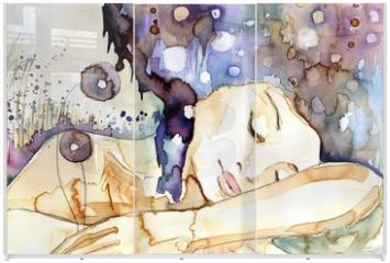 Panel szklany do szafy przesuwnej - marzenia senne