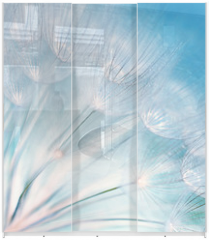 Panel szklany do szafy przesuwnej - Abstract dandelion flower background