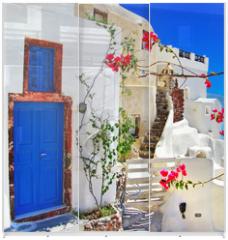 Panel szklany do szafy przesuwnej - traditional Greek islands series - santorini