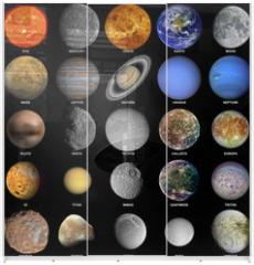 Panel szklany do szafy przesuwnej - The solar system