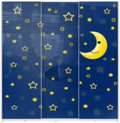 Panel szklany do szafy przesuwnej - tło