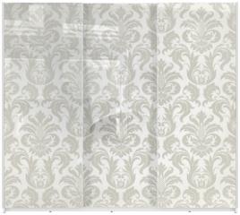Panel szklany do szafy przesuwnej - Vector seamless floral damask pattern
