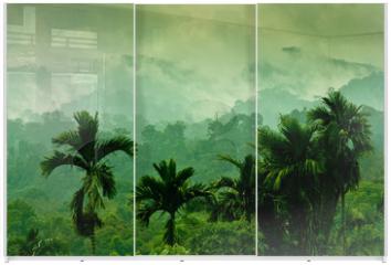 Panel szklany do szafy przesuwnej - Selva de Sumatra